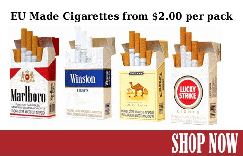 Cigarettes for $2.00 per pack